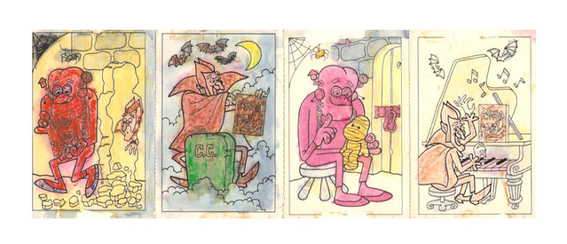 1970's General Mills Monster Cereal Paint Cards