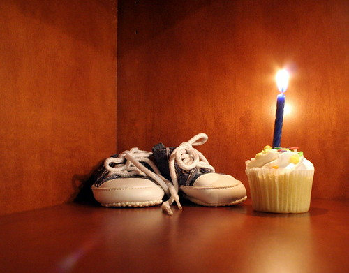 Shoes and Candle
