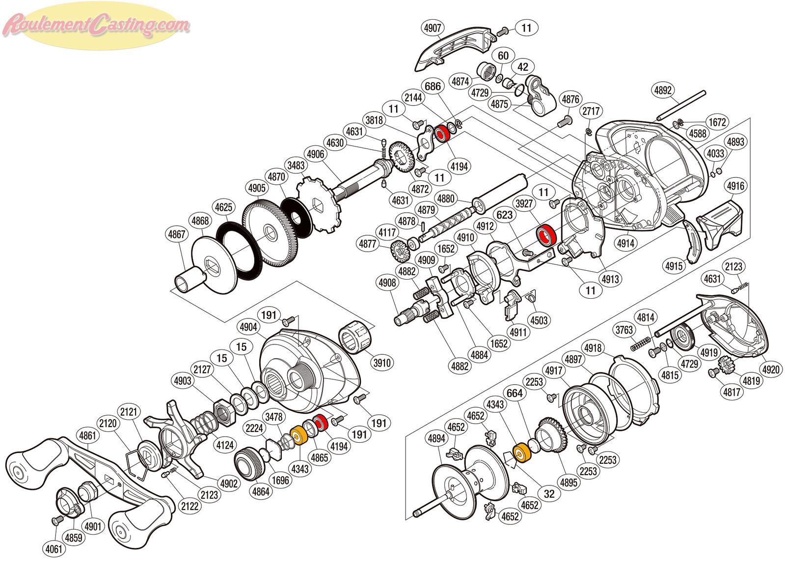Schéma Shimano 14' Curado 201I