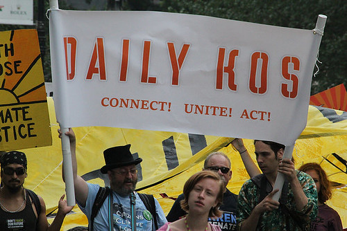 Daily Kos Connect! Unite! Act! banner Climate March NYC