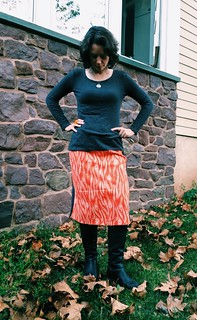 part design your own / part improv sewing skirt