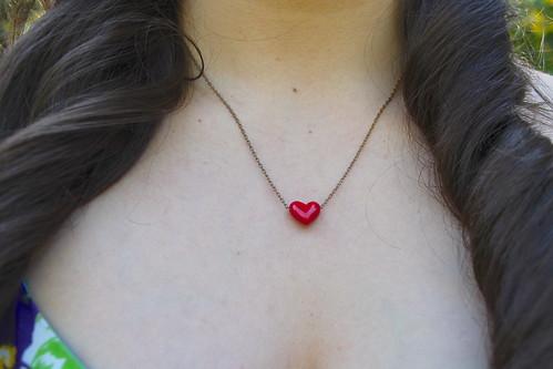 ASOS heart necklace