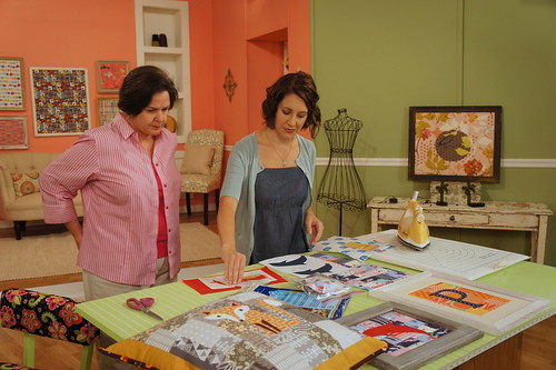 Filming with Quilting Arts