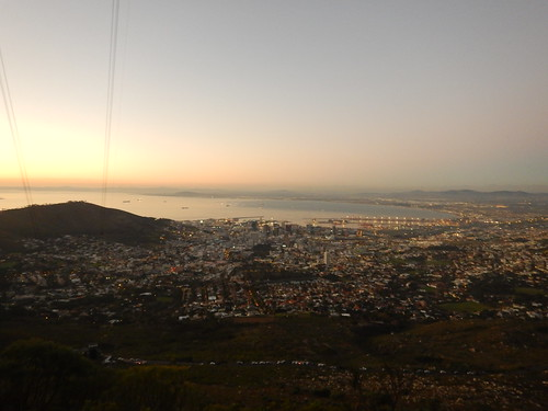 Sunsetting over Table Bay as seen from Table Mountain hike