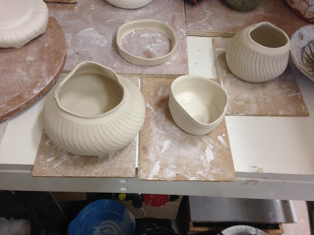 Mick Morgan inspired pots by me