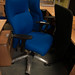 Blue swivel chair high back exec new  lumbar support  €150