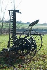 Ancient farm machinery, Domain La Poujade