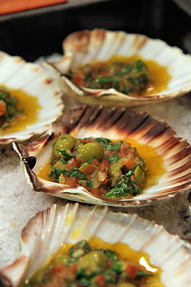 Baked Scallops, Sauce Vierge IMG_1036 R