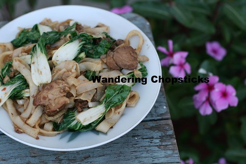 Chinese Char Siu (Barbecued Pork) Bok Choy Chow Fun (Rice Noodle) Stir-Fry 1