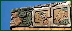 Architectural Detail: Mayan Art Deco Terra Cotta on West McNichols Road--Detroit MI