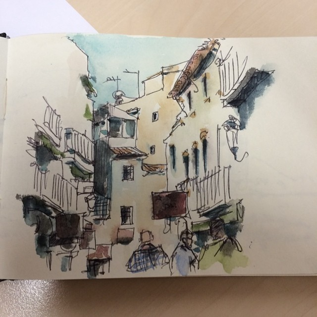 #benidorm #bic #watercolor #urbansketch