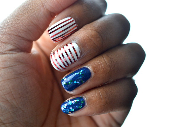 Patriotric nails