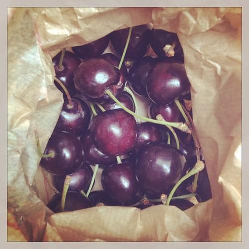 Dag 4: kersen in ons groentepakket #dezomervan2014