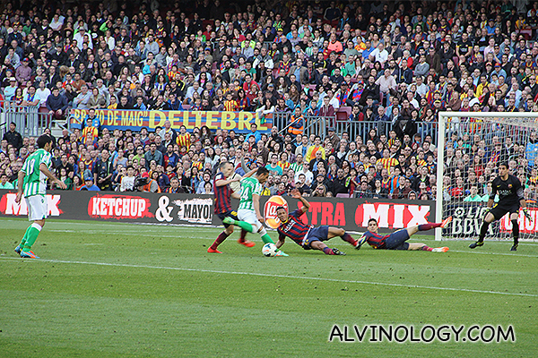 Real Betis going for a goal