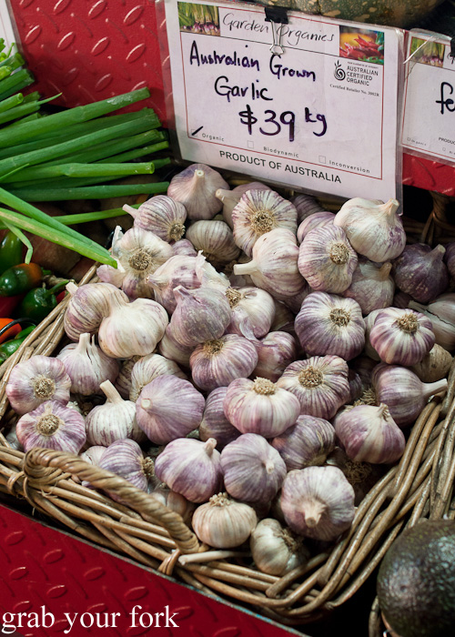 Australian grown garlic at Queen Victoria Market, Melbourne