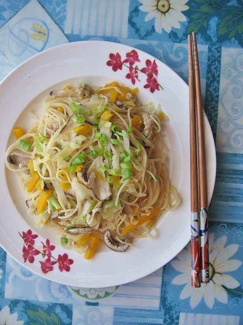 Pumpkin And Mushroom Rice Vermicelli Noodle 南瓜米粉 Teczcape An