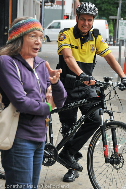 PPB Police Chief Mike Reese on bike patrol-5
