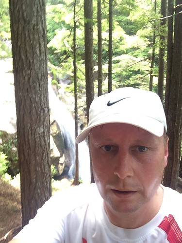 Selfie at the Shannon Falls (Sea to Sky Summit Trail)