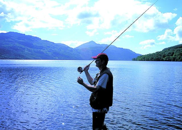 Fishing Loch Lomond Scotland from Flickr via Wylio