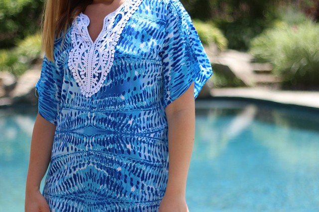Blue Bathing Suit Coverup - Beachy Keen on #LivingAfterMidnite