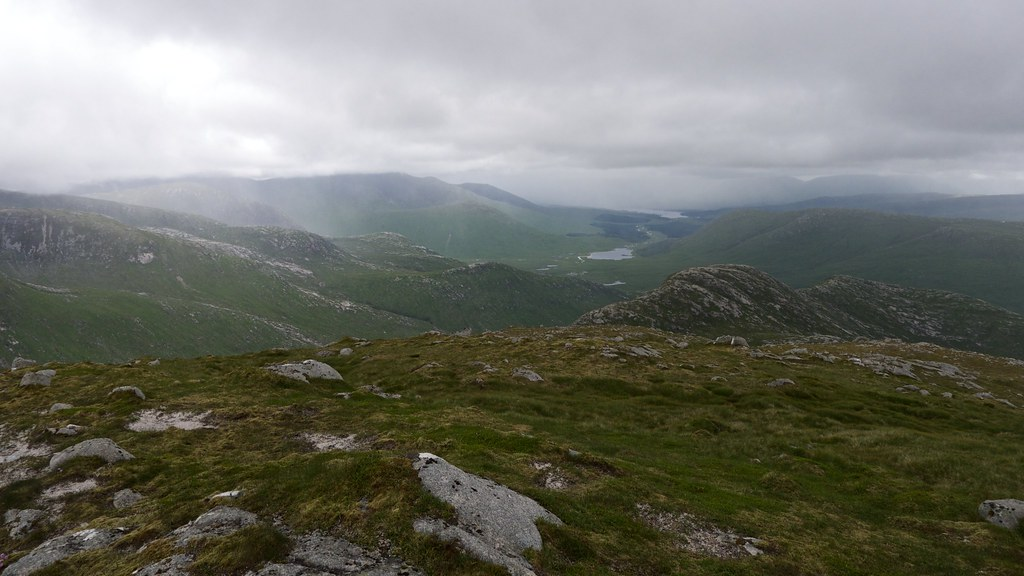 The Black Mount and Bridge of Orchy Hills from Beinn nan Aighenan