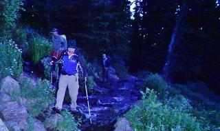First Stream Crossing on Fall Creek Trail