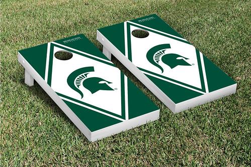 Michigan State Spartans Cornhole Game Set Diamond