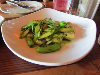 Gnocchi with spring vegetables at Portobello