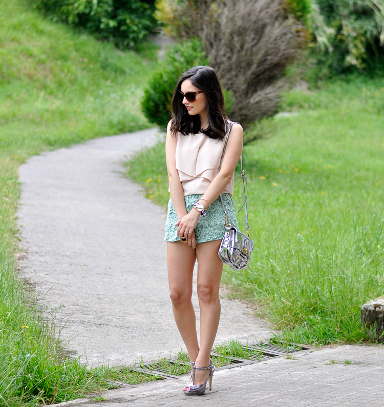 Lace Mint Short_07