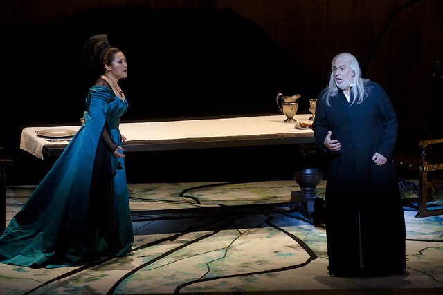 Guanqun Yu as Lucrezia Contarini and Plácido Domingo as Francesco Foscari in I due Foscari  © Palau de les Arts Reina Sofía - Tato Baeza 2013