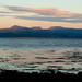 Sunset from Criccieth to the Rhinogs.