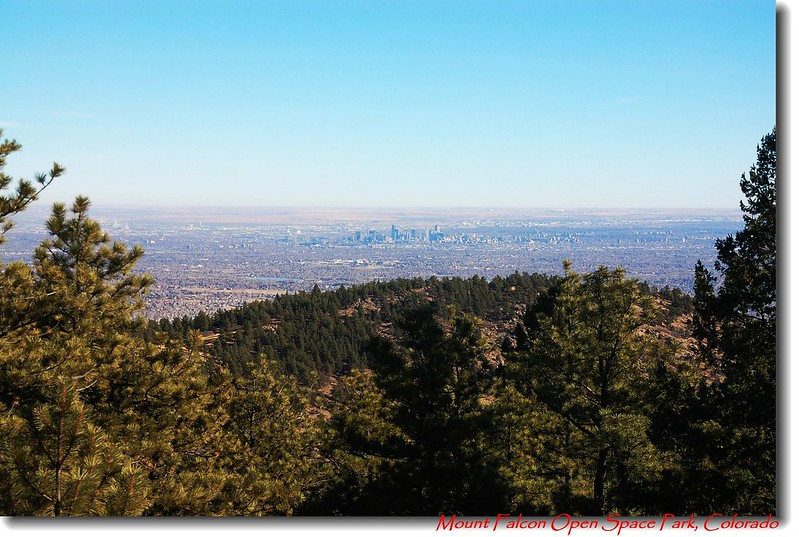 Overlooking Denver downtown from Falcon's summit