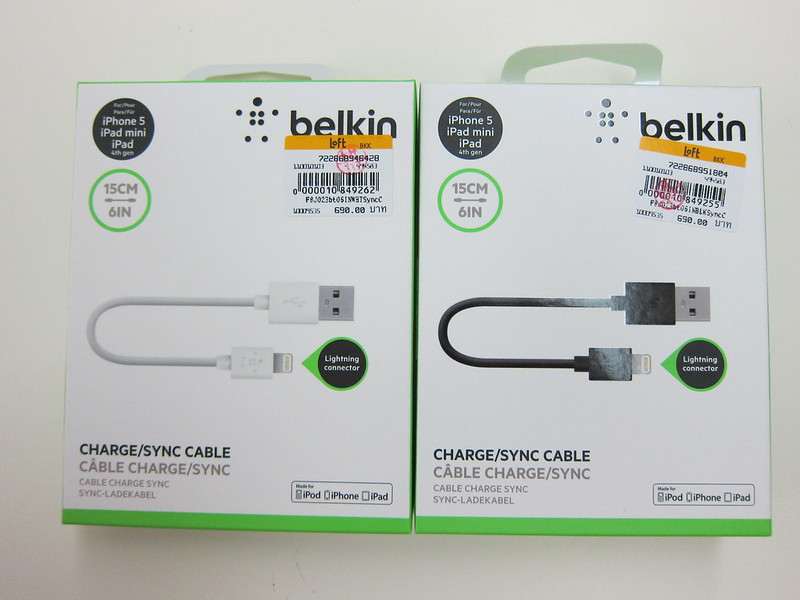 Belkin 6 Inch Lightning to USB ChargeSync Cable - Boxes
