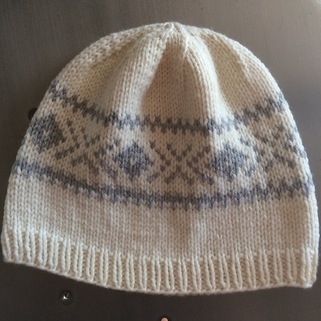 My first #fairisle project! #quinceandco #laurelhurst #knitting