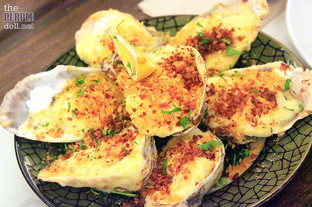 Baked Oysters with Crispy Kangkong (P235)