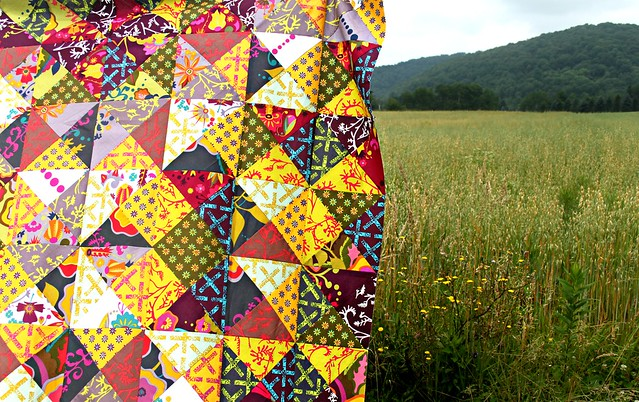 A Scrappy Hourglass Quilt Top