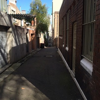 Light and shadow play on lanes in Surry Hills 3
