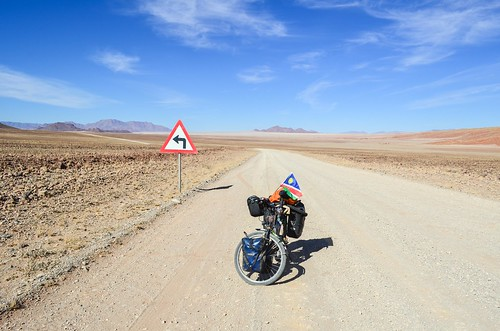 Cycling in the NamibRand NR, Namibia
