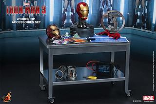 Hot Toys – ACS002 – 鋼鐵人 3: 1/6比例 工作室配件包