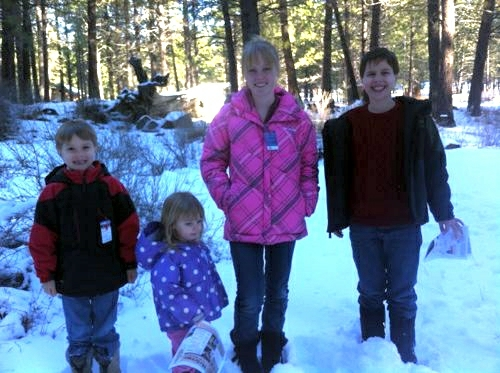 Snow at the High Desert Museum
