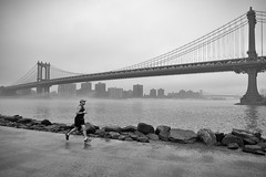 Manhattan Bridge jogger