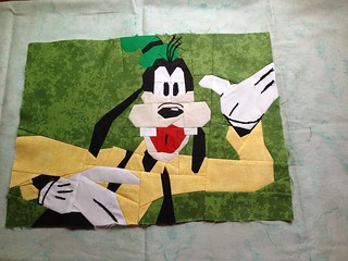 "Goofy  will be 12"" X 16"" when finished"