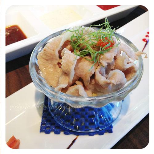 Japanese food- pork slices
