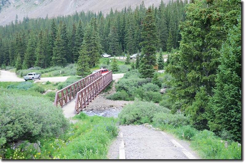 This bridge crossing the creek in Stevens Gulch 1