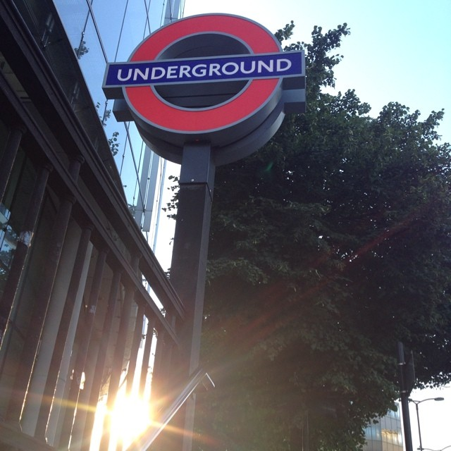 6:45 - coming up from underground #london #tube #morning #work