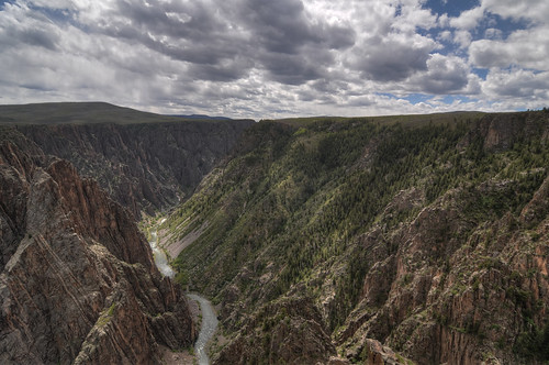 travel vacation nature landscape nationalpark nikon colorado day unitedstates cloudy outdoor canyon tokina montrose hdr gunnison blackcanyonofthegunnison blackcanyon d300 landscapephotography photomatix tomichipoint 1116mm