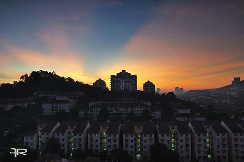 morning light sunrise buildings landscape nikon scenery ray cityscape malaysia kualalumpur malaysian damansara nikond90 nikonmalaysia