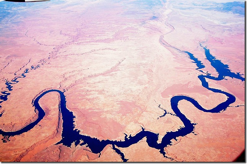 Looking down Colorado River from the air 13