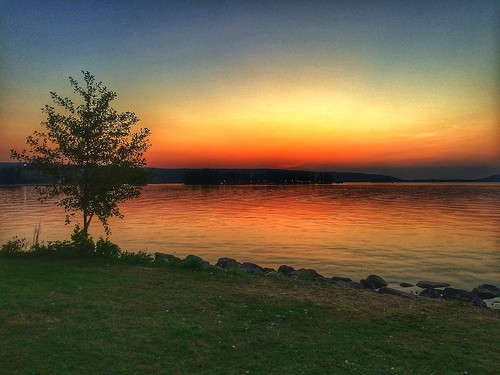 sunset summer sky water finland boats