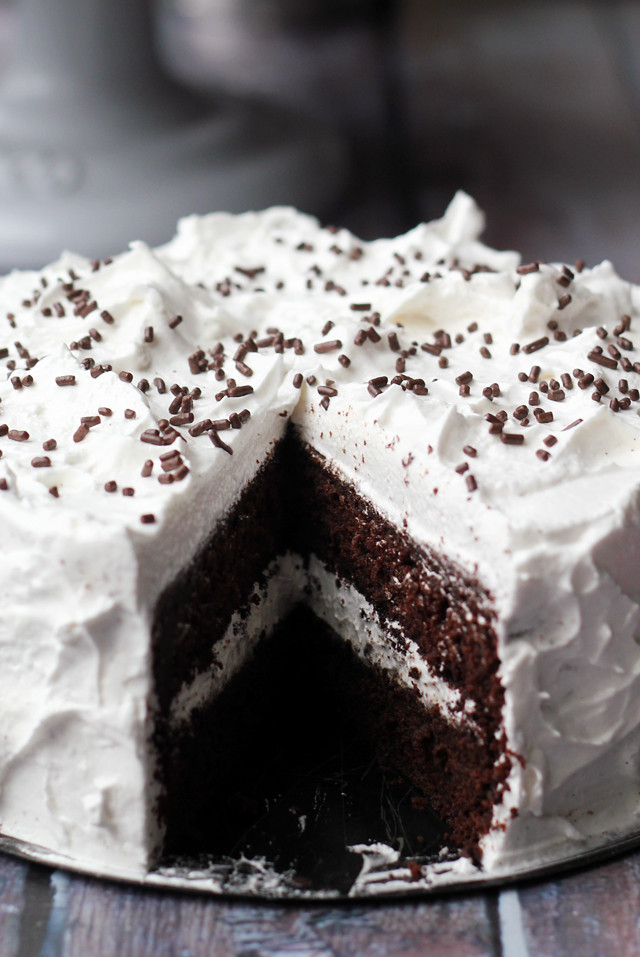 Devil's Food Cake with Angel Frosting | Joanne Eats Well With Others